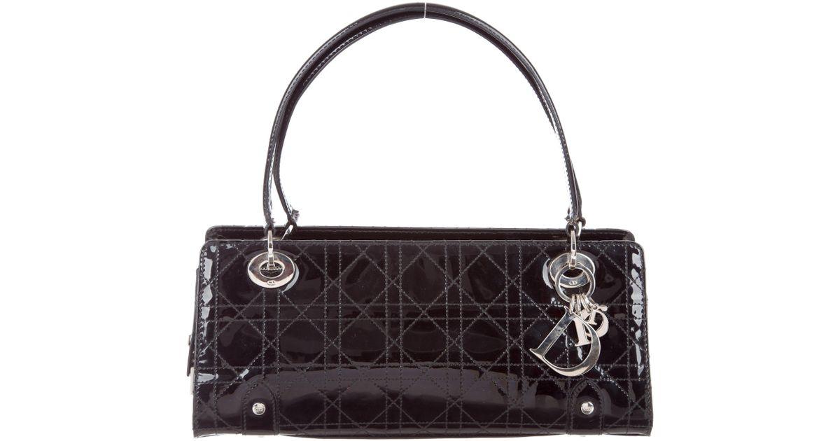 Lyst - Dior Cannage E w Lady Bag Black in Metallic c0a5921d52c71