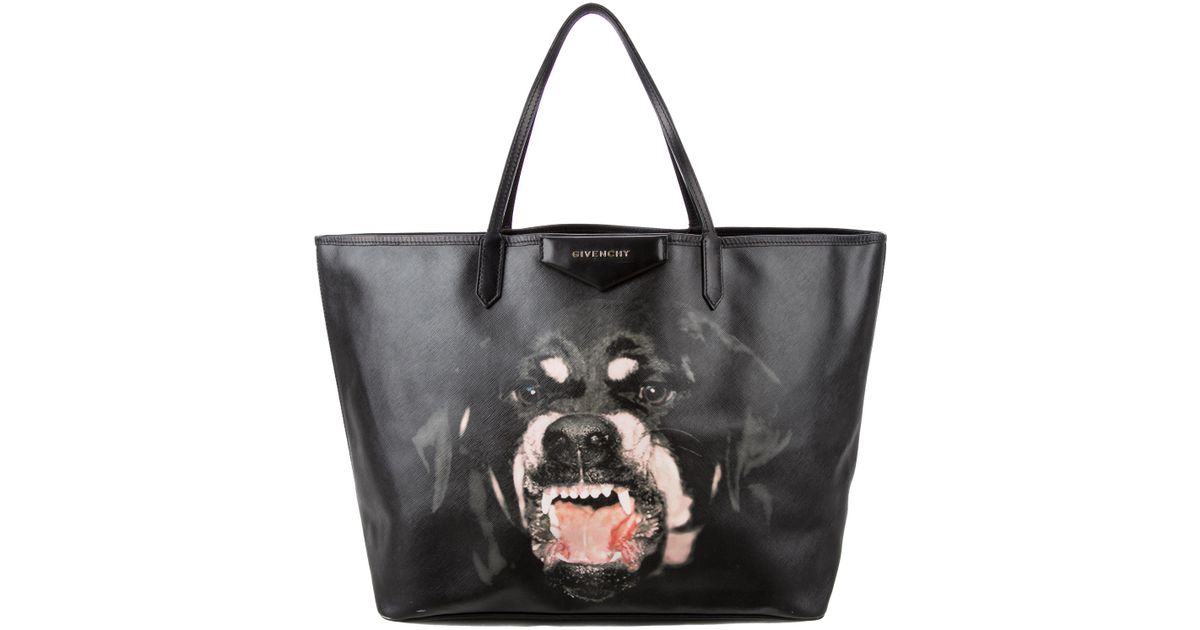 3833d02bfdf Lyst - Givenchy Rottweiler Antigona Tote Black in Metallic