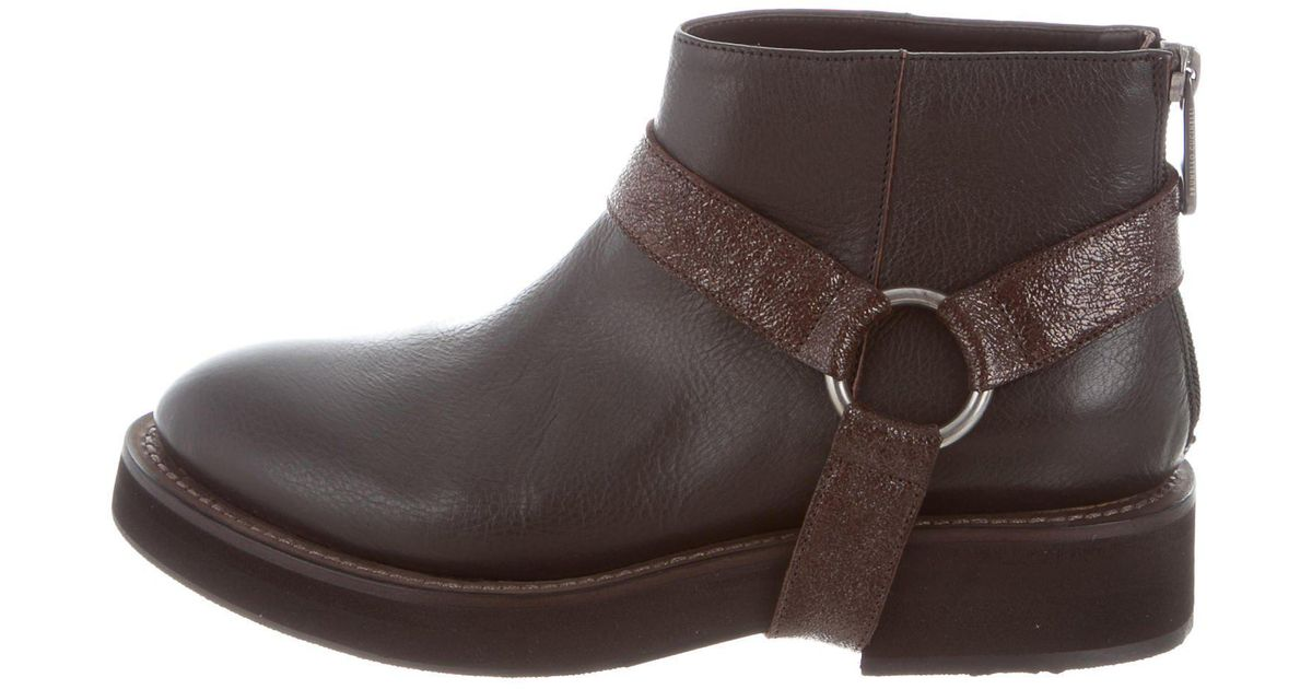 Brunello Cucinelli Leather Harness Ankle Boots w/ Tags collections online buy cheap cheapest price free shipping limited edition cheap buy authentic really for sale 50mLllS