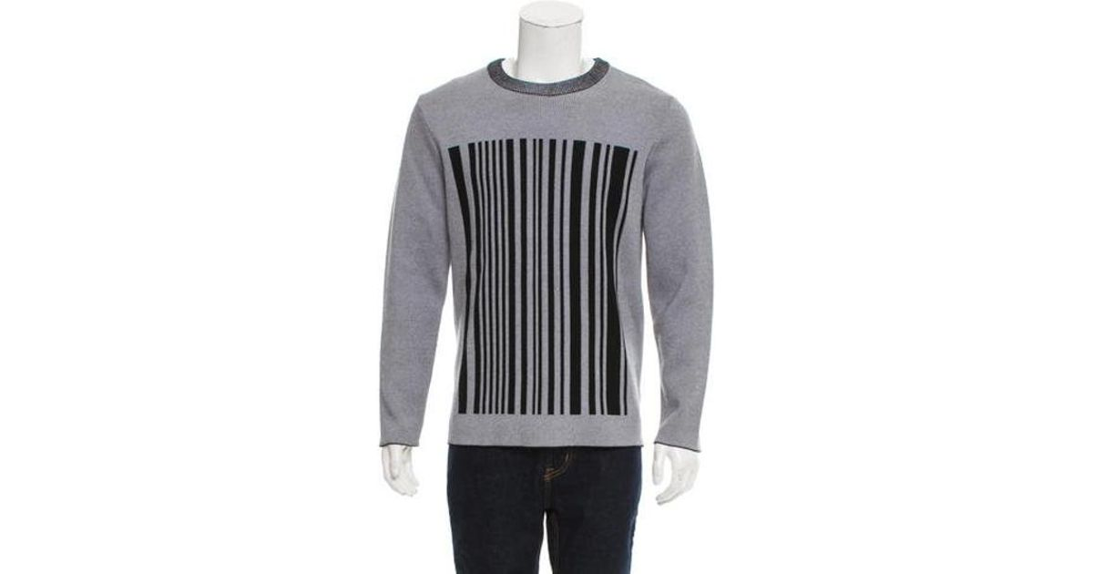 5cdc1c964af3 Lyst - Alexander Wang Crew Neck Barcode Pattern Sweater Grey in Gray for Men