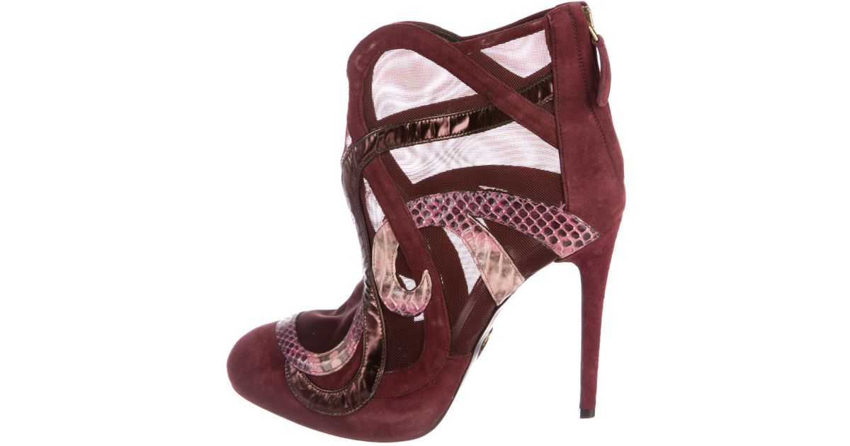 discount Inexpensive get to buy cheap online Roberto Cavalli Satin Lace-Up Ankle Booties sale with mastercard cost for sale free shipping amazon 7ltcBJCptK