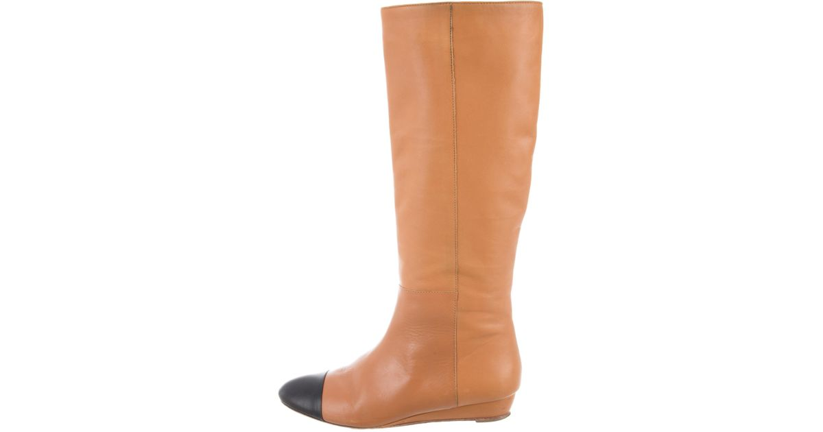 Loeffler Randall Cap-Toe Knee-High Boots wiki cheap price how much cheap online real cheap online wide range of for sale Y4WCHYqV4
