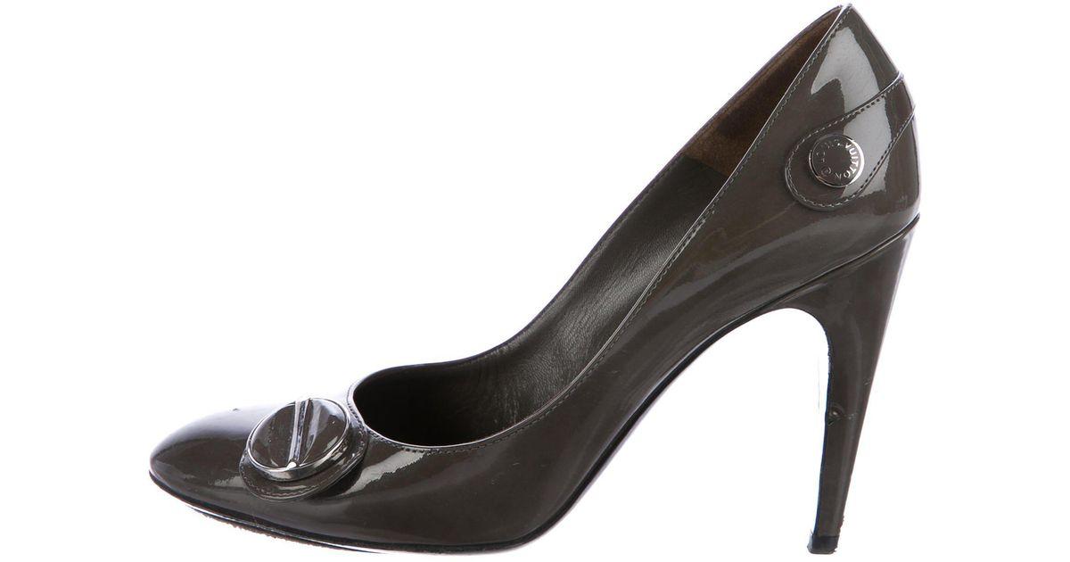 LOUIS VUITTON Grey / Leather Heels GXpe7TqAp0