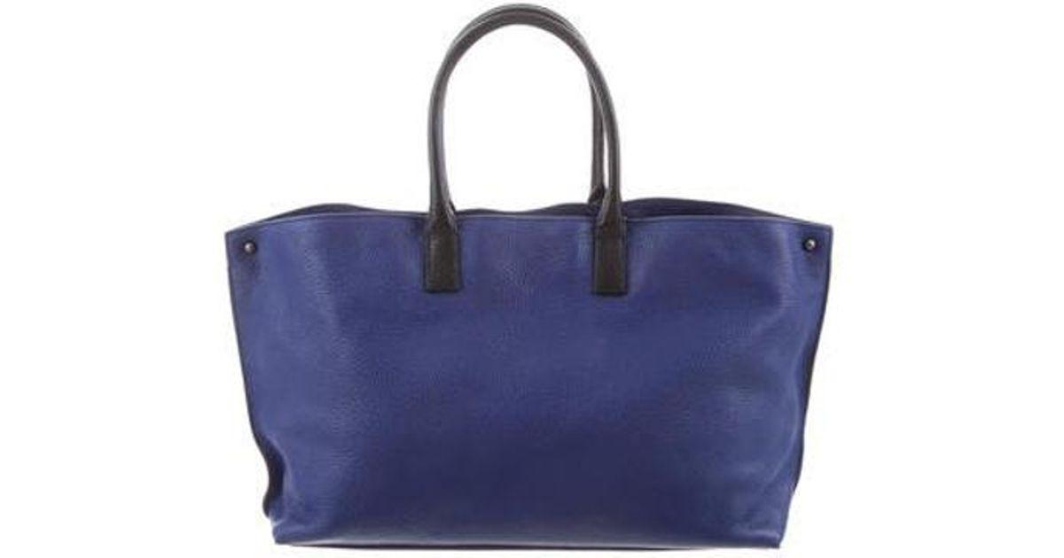 b308f63e7f Lyst - Akris Ai Mini Cervo Leather Messenger Bag Blue in Natural