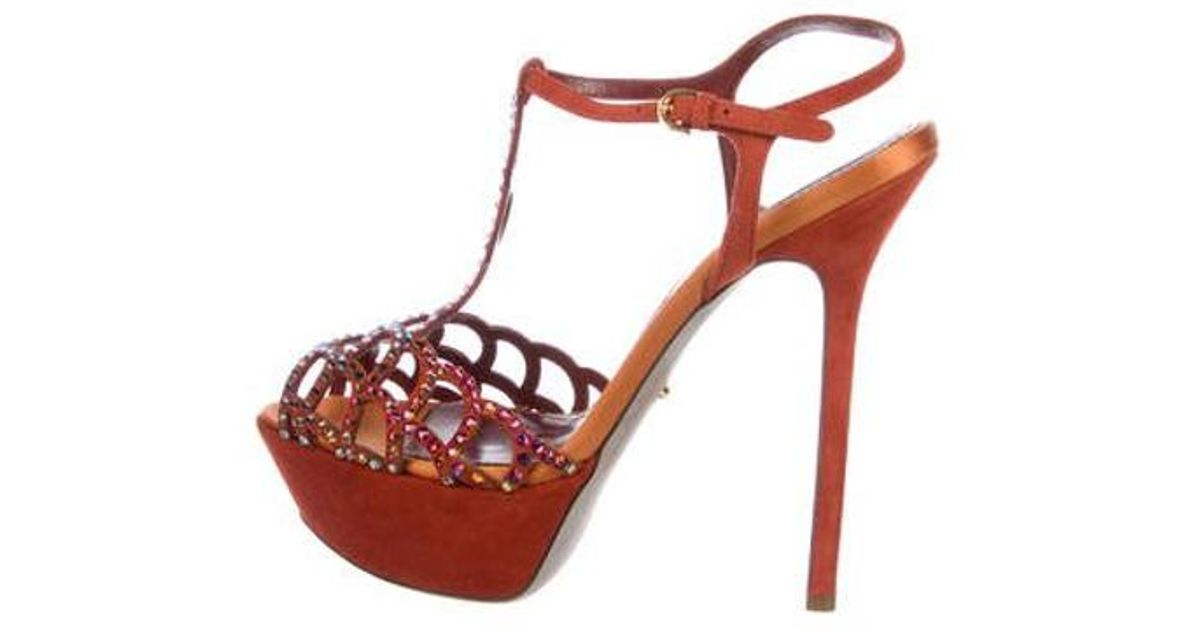 087c4d4529e3 lyst – sergio rossi strass embellished platform sandals orange. Download  Image 1200 X 630