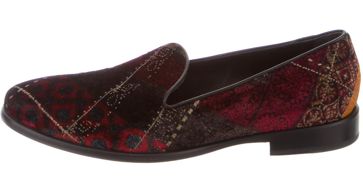 Etro Patterned Smoking Slippers supply cheap online online cheap 0sWvvcKh