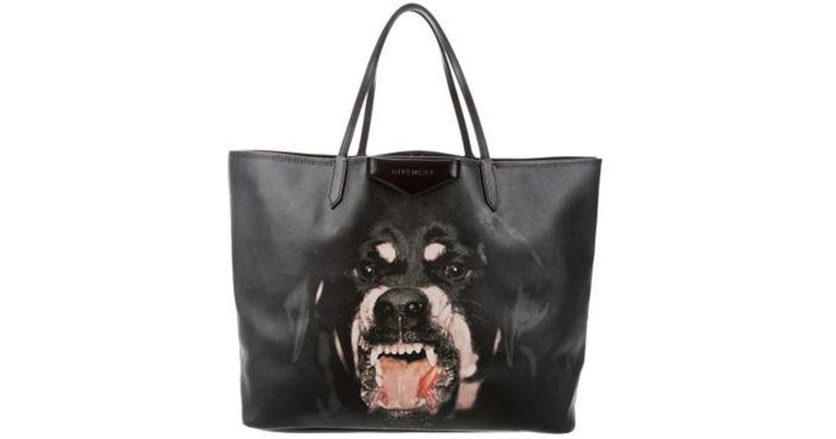 8c8250aaa0 Lyst - Givenchy Antigona Rottweiler Tote Black in Metallic