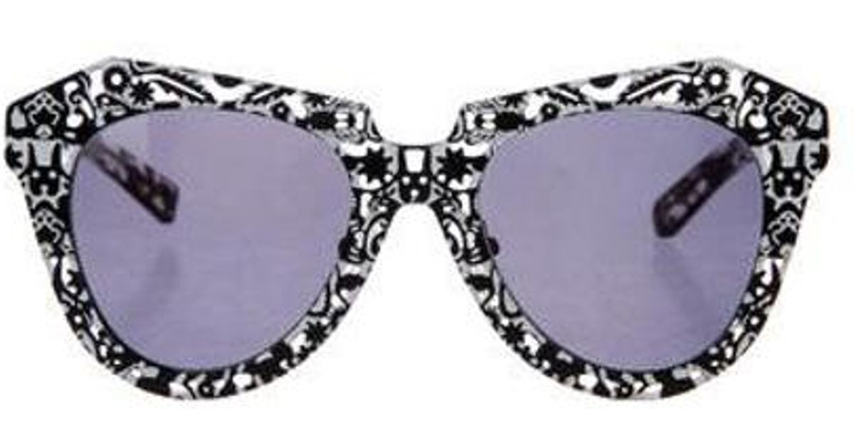 8139d725b886 Lyst - Karen Walker Super Power Tinted Sunglasses in Black