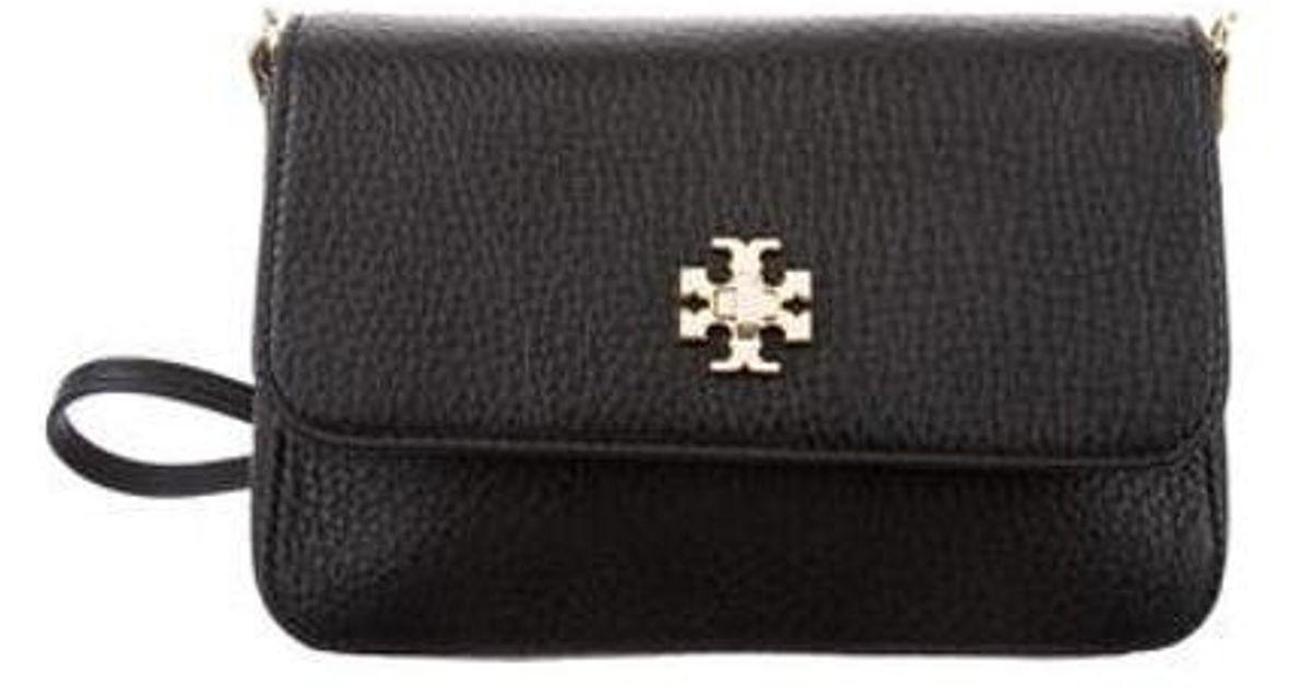 ecdc0cb53339 Lyst - Tory Burch Mercer Classic Mini Crossbody Bag Black in Metallic