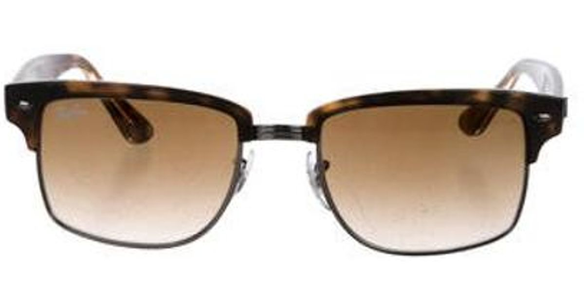 84d8a9a9d7 Lyst - Ray-Ban Gradient Square Sunglasses in Brown