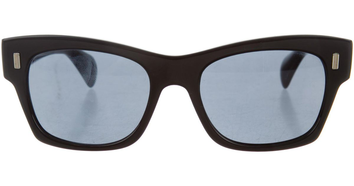 2f25dcfe803 Lyst - The Row 2017 71st Street Sunglasses in Black