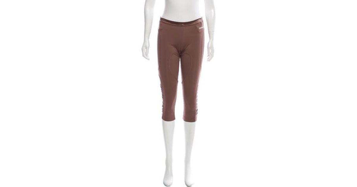 0e34248d8dab7 Lyst - Adidas By Stella Mccartney Mesh Accented Crop Leggings in Purple