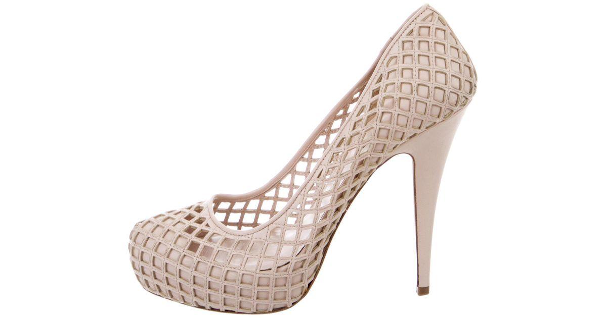 Miu Miu Laser-Cut Platform Sneakers discount cheap price 100% guaranteed cheap online best wholesale cheap price FpOduW