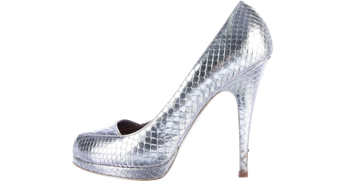 Roberto Cavalli Metallic Snakeskin Pumps clearance browse real sale online low price fee shipping sale online eZOa2x