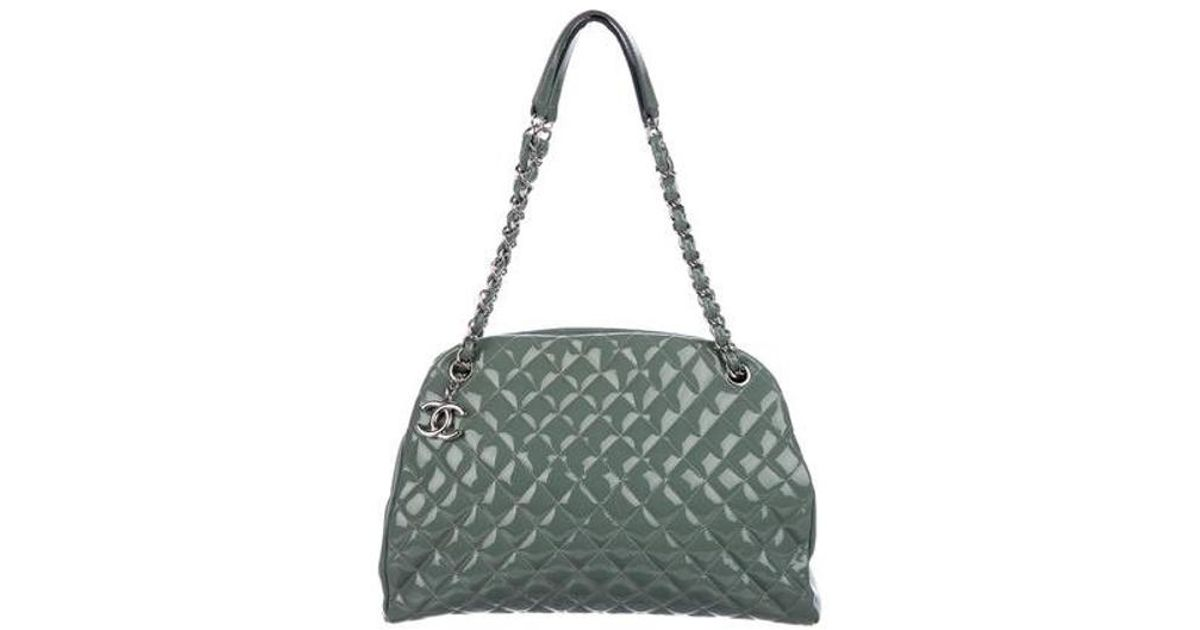 9c413cb42613 Lyst - Chanel Just Mademoiselle Large Bowler Bag Silver in Metallic