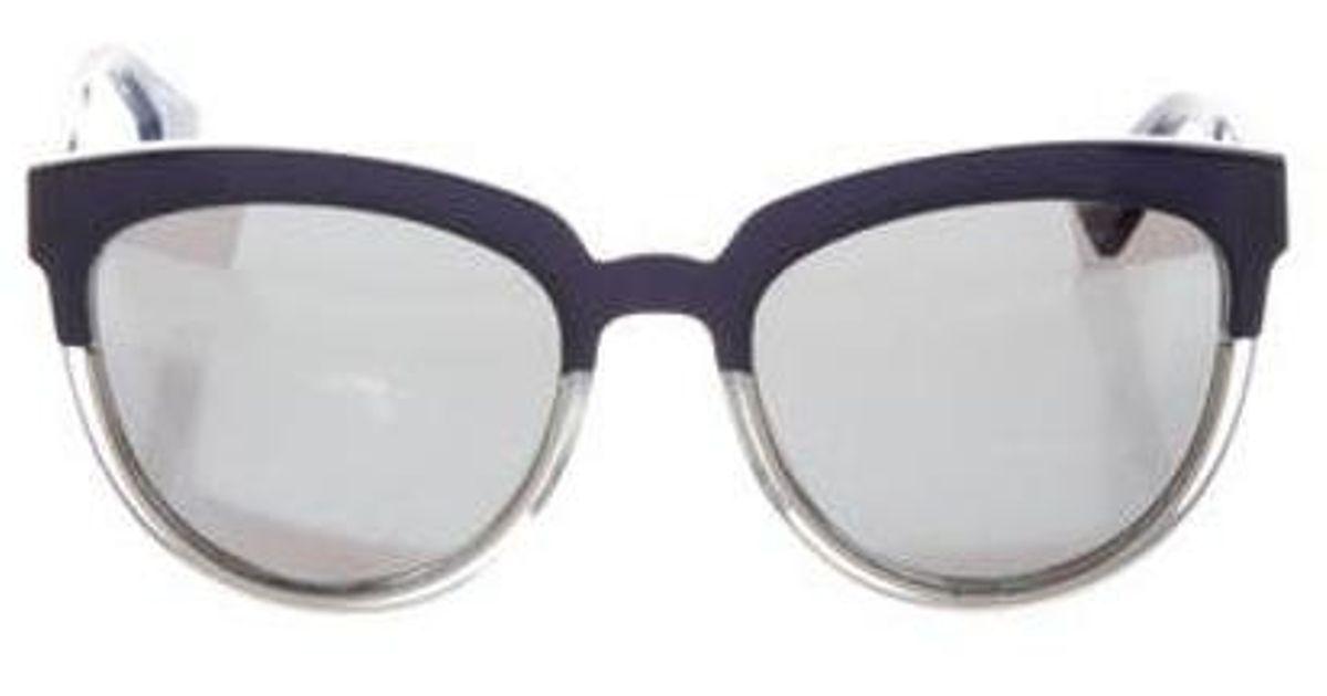 493a02c94f6c Lyst - Dior Sight 1 Sunglasses Blue in Metallic