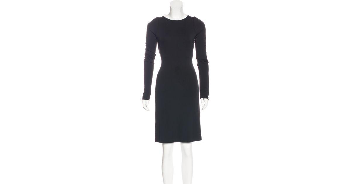 Lyst Calvin Klein 205w39nyc Long Sleeve Knee Length Dress In Black