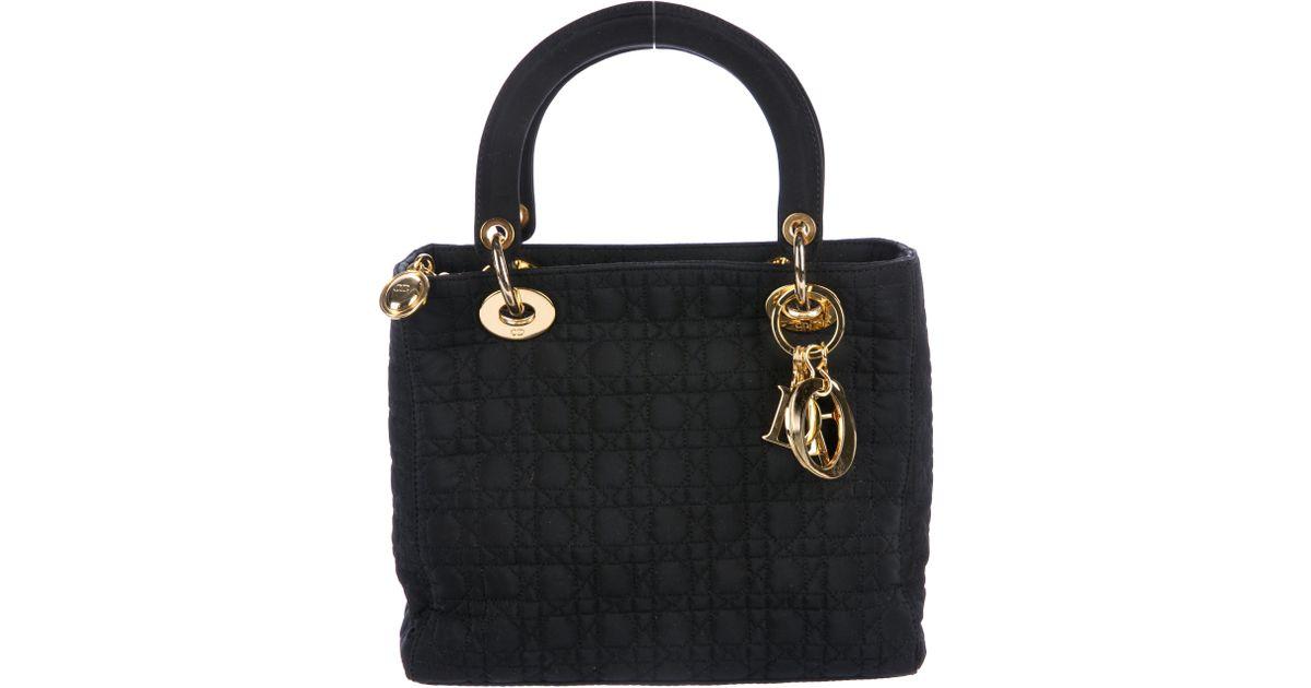 fc814d53f867 Lyst - Dior Medium Lady Bag Black in Metallic