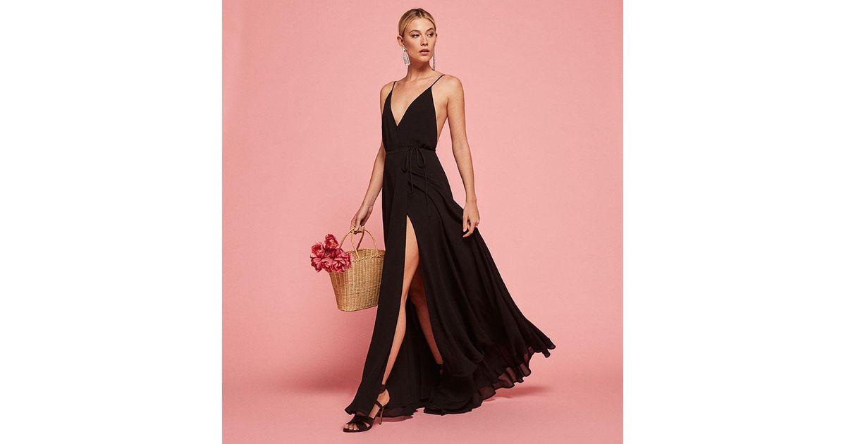 33740a7a72de4b Reformation Callalily Dress in Black - Lyst