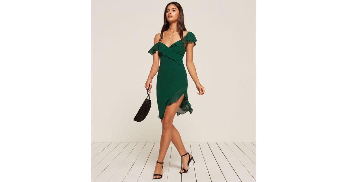 e0fbe02f7fd7 Reformation Adora Dress in Green - Lyst