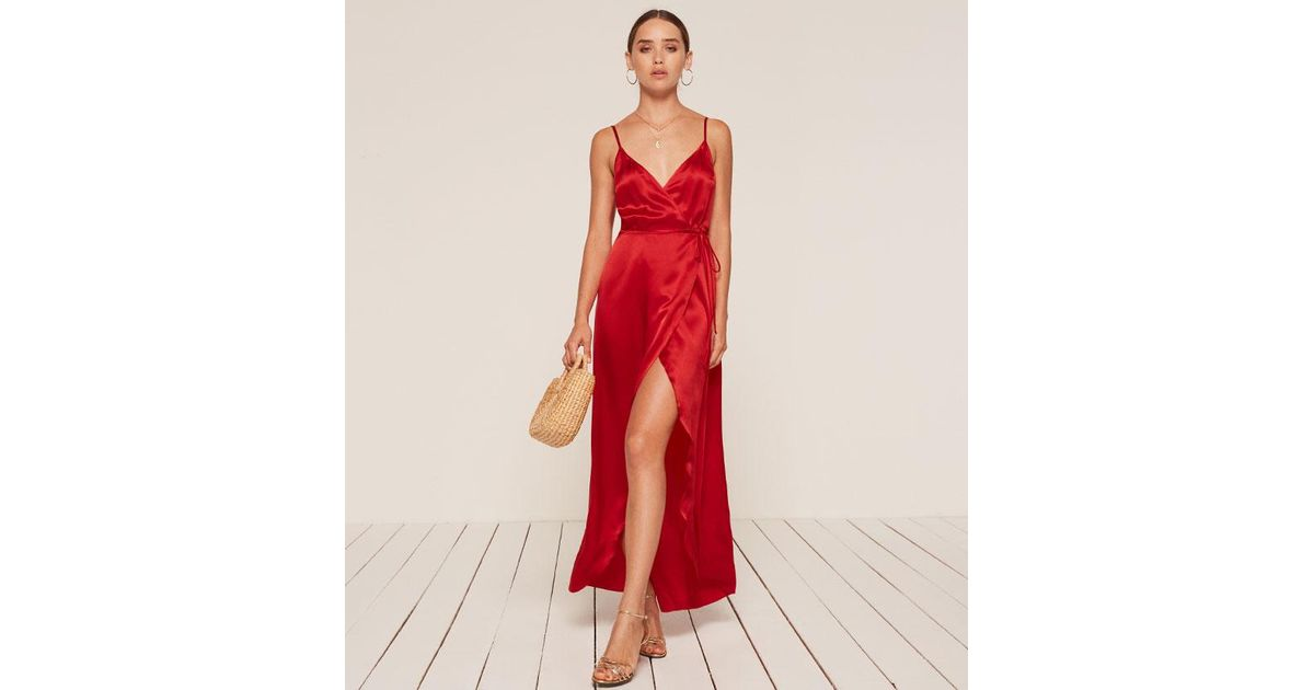70d9fe655d22b Reformation Getty Dress in Red - Lyst