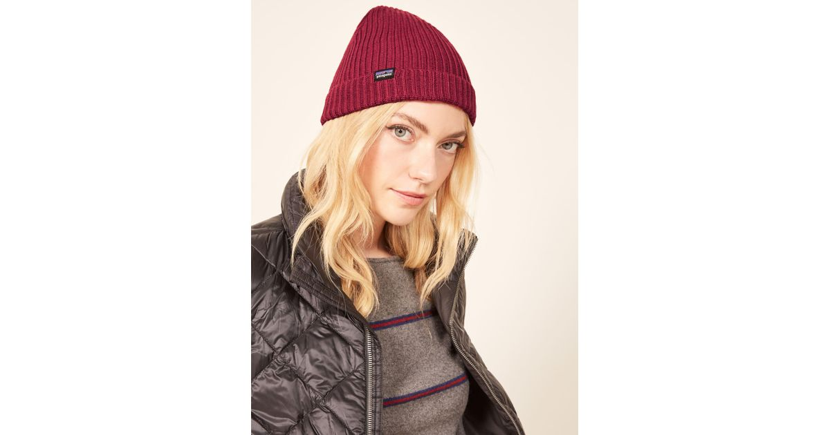 18ae26b6 Reformation Patagonia Fisherman's Rolled Beanie in Brown - Lyst