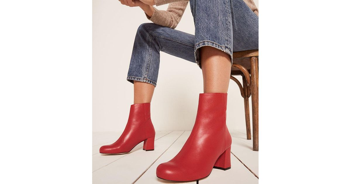wholesale dealer dbb0e 548c9 Reformation Red About Arianne Milo Boots
