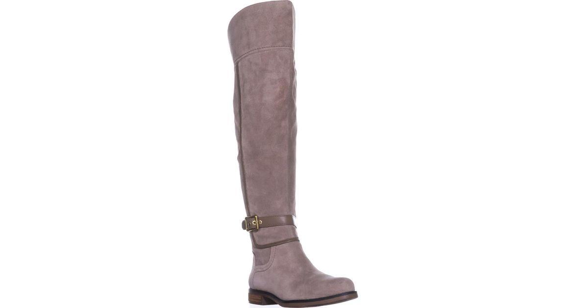 9e35067a33a Lyst - Franco Sarto Crimson Wide Calf Riding Boots