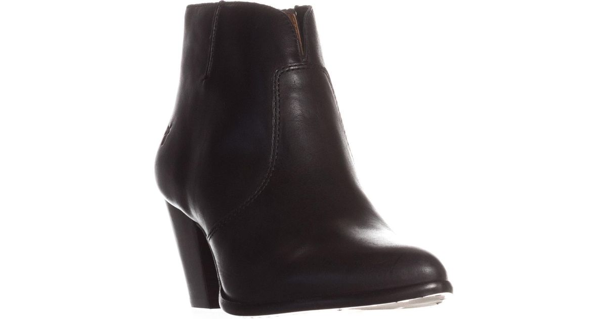 7449ec6e0a8 Frye Black Jennifer Bootie Short Cowboy Boots