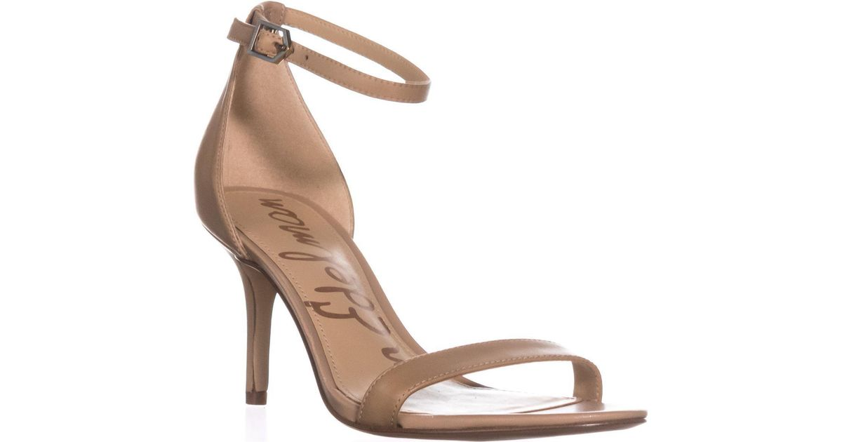 b448ec3faa34 Sam Edelman Orient Express Patti Patent Leather Ankle-strap Sandals in  Natural - Lyst