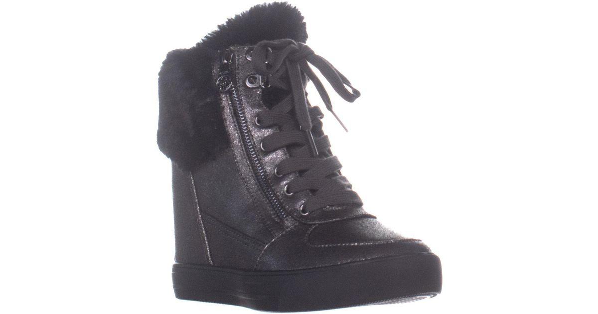 6a43130fdcb Lyst - Guess Dustyn Hidden-wedge Fashion Sneakers