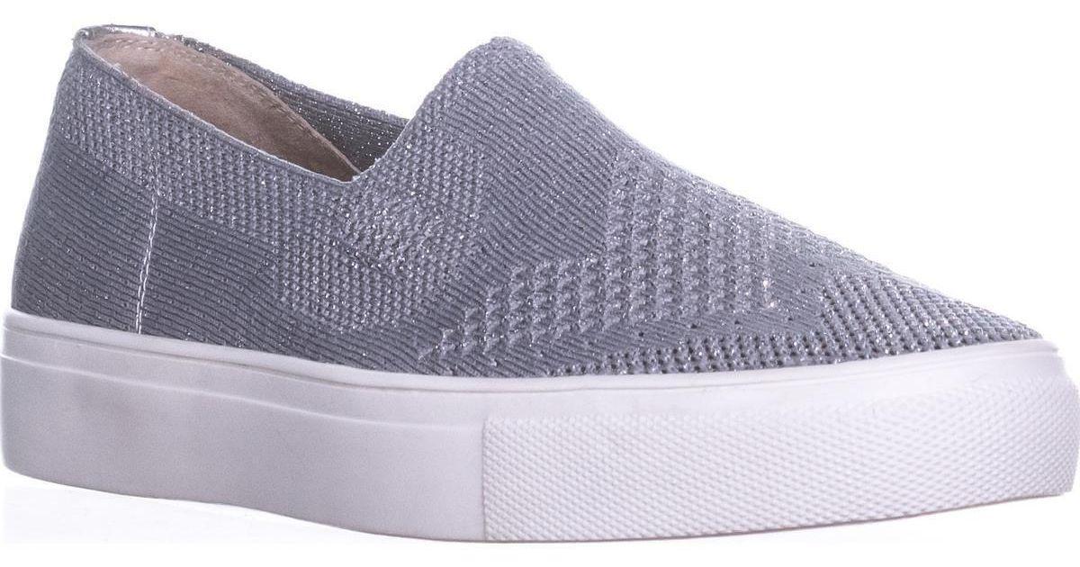 c7b6d8b93c3 Steve Madden Metallic Steven Kai Slip On Sneakers, Silver