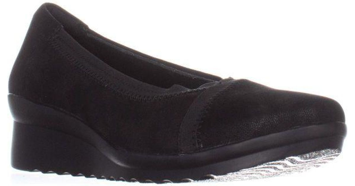 777189bd8e2 Lyst - Clarks Caddell Dash Wedge Pumps in Black