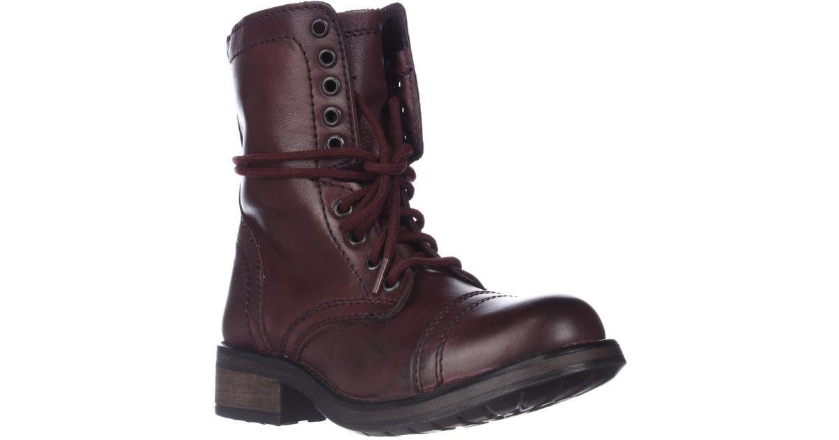 9529da064f9 Steve Madden - Multicolor Tropa2 Combat Boots - Lyst