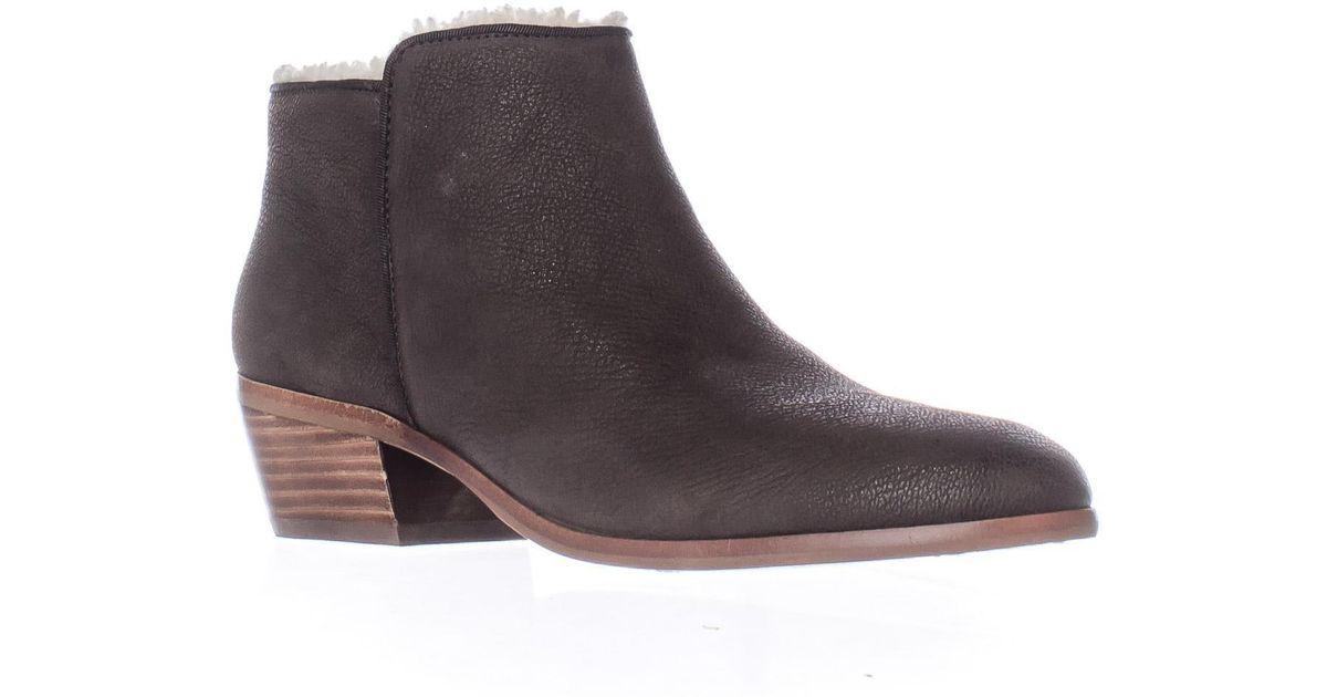 sam edelman petty fleece lined ankle boots in