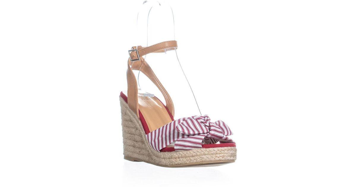Sandals Curia Nautica Wedge Red Espadrille Lyst E9H2IWD