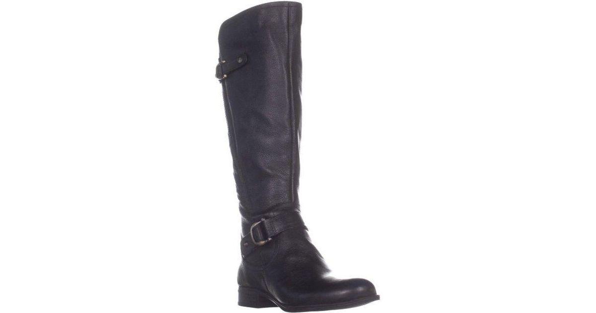 d7d661096b8 Lyst - Naturalizer Jillian Riding Knee High Boots in Black