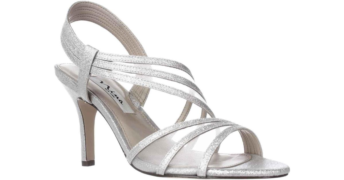 43d8e49576c Lyst - Nina Vitalia Slingback Dress Sandals in Metallic