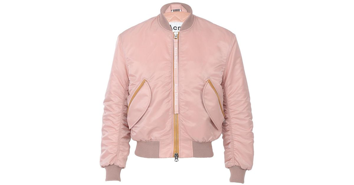 2ae03d643 Acne Pink Clea Bomber Jacket