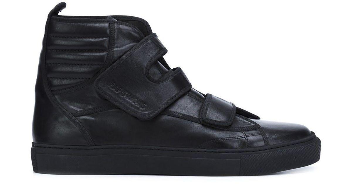 055e5575d791 Lyst - Raf Simons Velcro Straps Hi-tops in Black for Men
