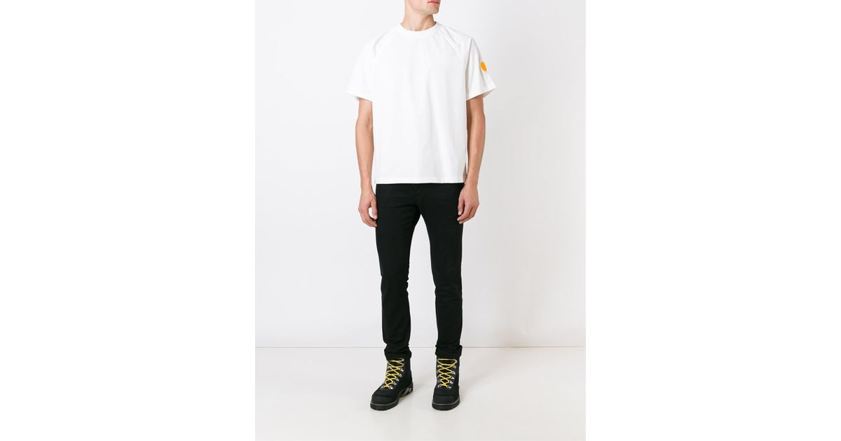 Moncler x off white printed t shirt in multicolor for men for Off white moncler t shirt