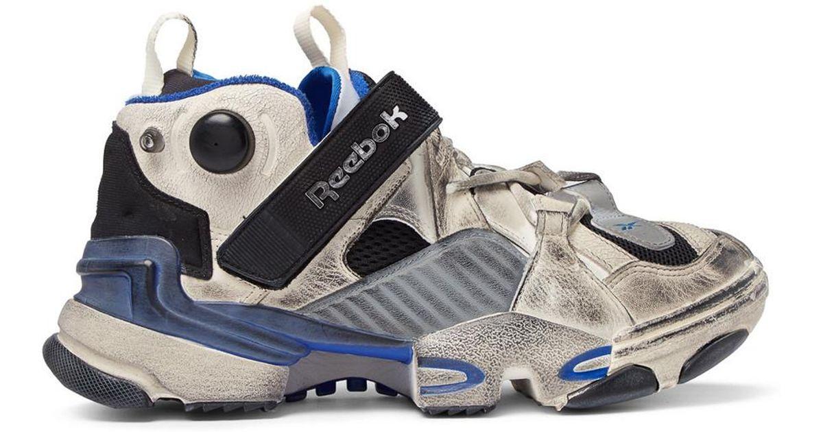 Reebok In Vetements Sneakers Modified Lyst Pump X Blue Genetically RSqwE7xz
