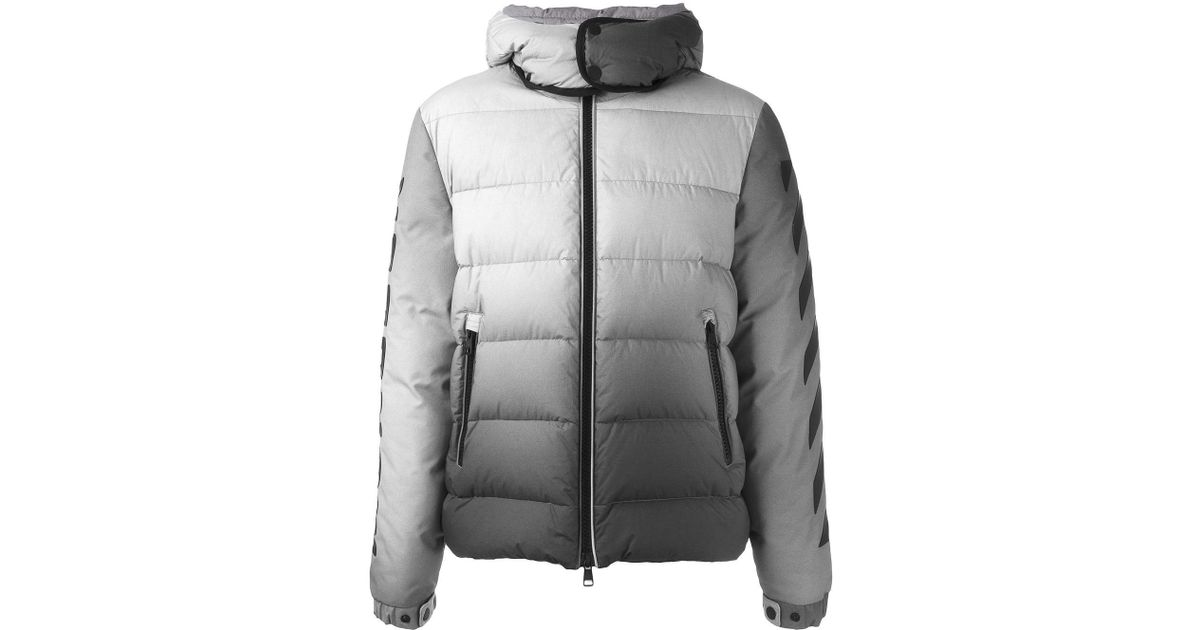 Moncler Blue X Off white 'enclos' Padded Jacket for men