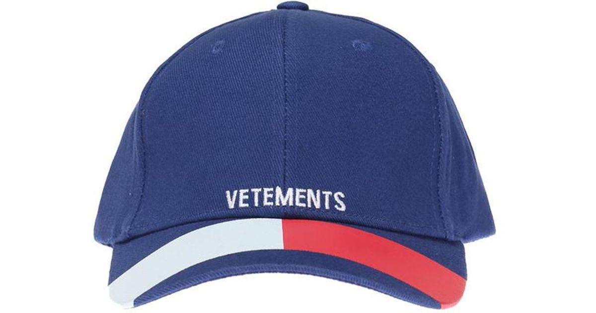 Lyst - Vetements Tommy Cap in Blue for Men - Save 28.57142857142857% 8ce2a5de3e05