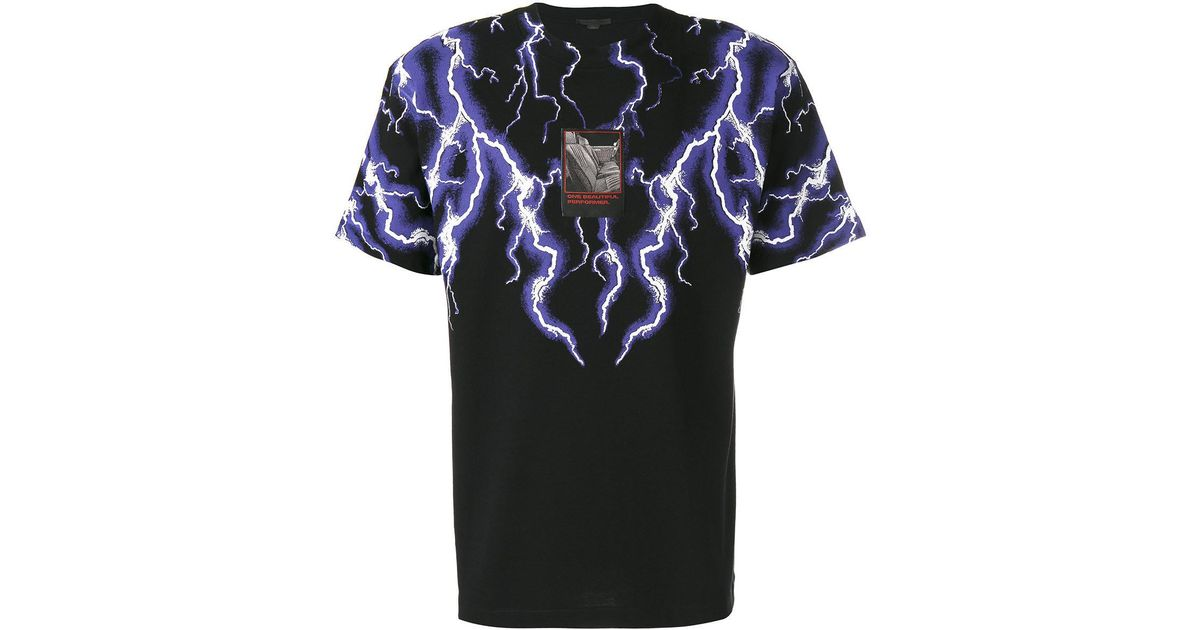 4b2aa8697 Alexander Wang Lightning Collage Short Sleeve Tee in Black for Men - Lyst