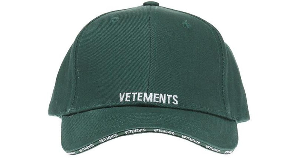 Green Logo Baseball Cap VETEMENTS 3jJrW