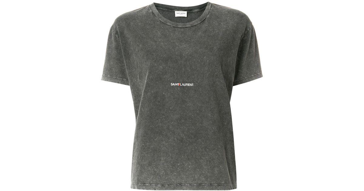Logo Saint Laurent Patch Lyst Shirt T f76YbvIyg