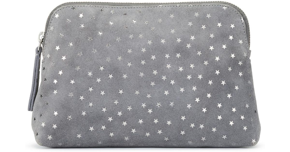 The White Company Suede Star Make-up Bag in Charcoal (Gray ...