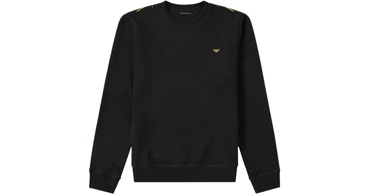 f8db595b Emporio Armani Gold Reverse Logo Sweatshirt Black for men