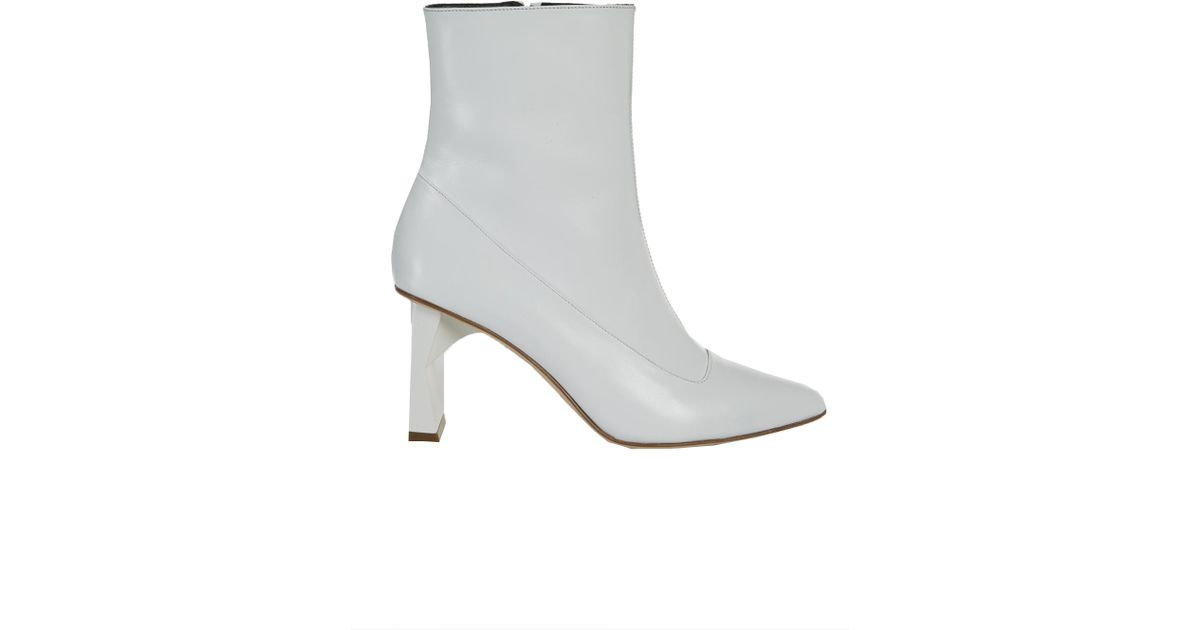 Tibi Leather Alexis Boots in Bright